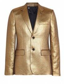 Marc By Marc Jacobs Gold Veruschka Lamé Blazer #Trend