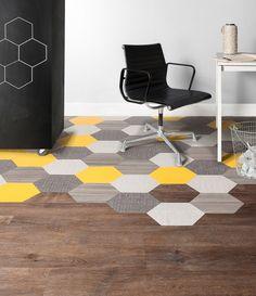 Lovely custom hexagon floor by Mannington Commercial #ChoicesThatWork