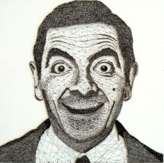 Mr. Bean by yarn and nails. - incredible what this woman makes from yarn and nails! have a look at her website, it's worth it!