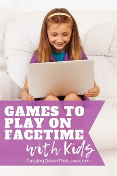 Stay connected, even from a distance with these fun games to play on Facetime. Kids will love these fun games and activities for Skype and FaceTime sessions! Time Games For Kids, Games To Play With Kids, Play N Go, Summer Activities For Kids, Playing Card Games, Kids Playing, Christmas Games To Play, Silly Songs, Abc Games
