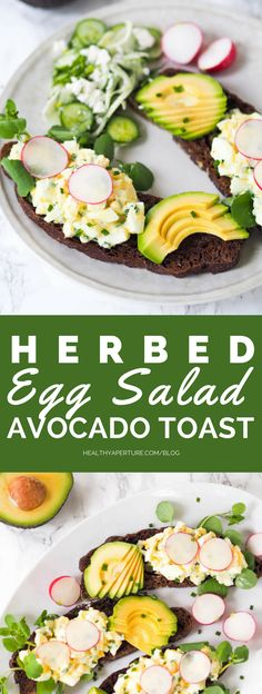 Add some protein to your classic avocado toast with this herb and yogurt egg sal. - Benefits Of Avocados - Healthy Egg Salad, Healthy Salad Recipes, Avocado Toast, Avocado Health Benefits, Clean Eating, Healthy Eating, Protein Packed Breakfast, Nutrition, Ethnic Recipes