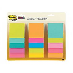 Post-it Super Sticky Waterfall Miami and Rio de Janeiro - Post It Notes - Desk Accessories - Office Supplies