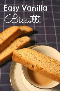 Vanilla Biscotti Recipe 6 Tbs butter 2/3 cup sugar 1/2 tsp salt 2 1/2 tsp vanilla extract 1 1/2 tsp baking powder 2 large eggs 2 cups all purpose flour