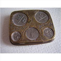 Victorian Spring Metal Silver Coin Holder Purse 3d 6d 1/- 2/- 2/6 maker JW Listing in the Half Crown,United Kingdom,Coins,Coins & Banknotes Category on eBid United Kingdom