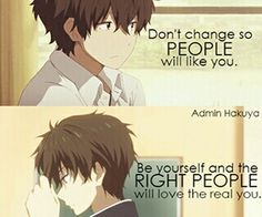 Find images and videos about quotes, anime and hyouka on We Heart It - the app to get lost in what you love. Sad Anime Quotes, Manga Quotes, True Quotes, Best Quotes, M Anime, Anime Life, Hyouka, Inspirational Quotes, Motivational