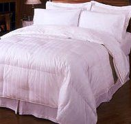 Add some all-natural coziness to your California king size bed with this goose down comforter. 600 fill power and hypoallergenic, covered in Egyptian cotton. King Egyptian Cotton Down Comforter (Stripe) - Nothing beat