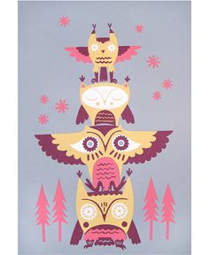 Owl Totem by Andrea Kang #owl #totem