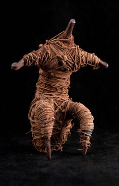 Africa | Doll from the Fali people of northern Cameroon | Metal, natural fiber cord, resin/wax like substance