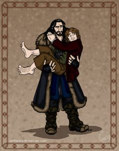 The Hobbit: Lean On Me (Bilbo & Thorin) by wolfanita.deviantart.com on @DeviantArt