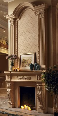 A beautiful mantel and overmantel