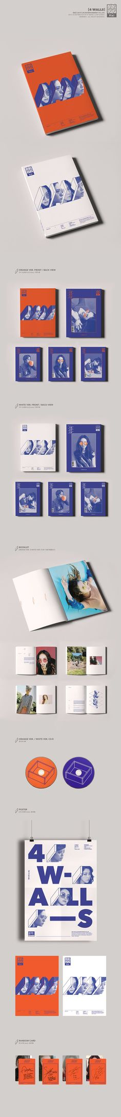 f(x) - 4 Walls album packaging + booklets