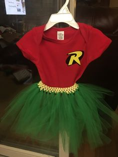 Baby girl's costume to match her brother's batman