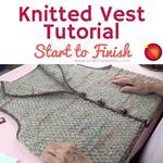 A great start to finish tutorial for a KNITTED VEST is uphttpswwwyoutubecomwatchvHlMXshGbItsKnitting Vest KnittingTutorial KnittingDesign InstaKnit Knitsagram Knitstagram KnittersofInstagram KnitProject