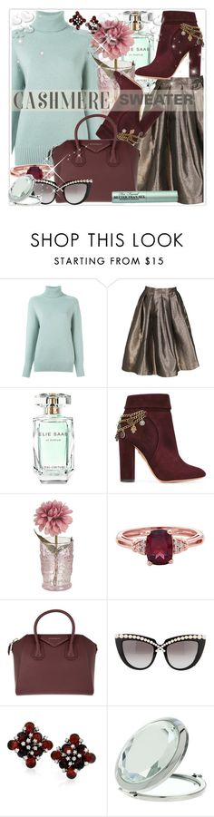 """""""Cozy Cashmere Sweaters"""" by stranjakivana ❤ liked on Polyvore featuring Chloé, Elie Saab, Aquazzura, Givenchy, Anna-Karin Karlsson, Miss Selfridge, Too Faced Cosmetics, Valentino, polyvoreeditorial and cashmere"""