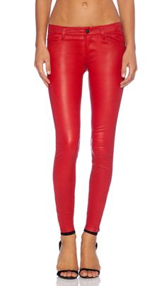 45f304f59efb J Brand Leather Jean in Rebel Red Leather Jeans