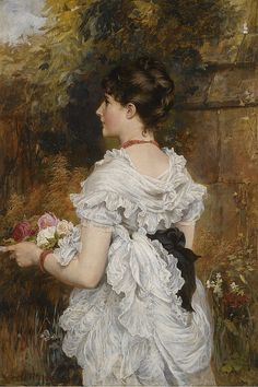 "Laslett John Pott (1837-1898), ""The last of the summer roses"", via Flickr."