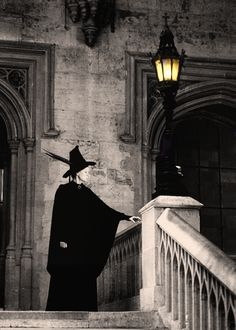 The door swung open at once. A tall, black-haired witch in emerald-green robes stood there. She had a very stern face...