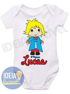 Body Infantil Pequeno Príncipe (Com Nome Personalizado)