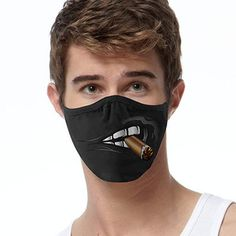 Funny Face Mask, Diy Face Mask, Face Masks, Smokers Face, Halloween Face Mask, Halloween 2018, Happy Halloween, Go Shopping, Mustache