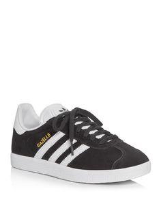 Adidas Originals Gazelle Lace Up Sneakers Shoes - Sneakers - Bloomingdale's Lace Sneakers, Lace Up Shoes, Adidas Shoes Women, Adidas Sneakers, Baskets, Suede Leather Shoes, Adidas Originals, Trainers, Soccer