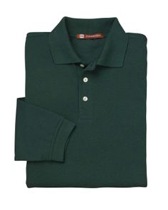 Mens 5 oz. Easy Blend Long-Sleeve Polo,65% polyester, 35% cotton pique at Gotapparel.com.