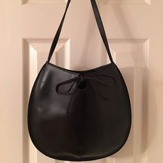 Selling this  Furla Black Leather Shoulder Bag in my Poshmark closet! My username is: saccardi. #shopmycloset #poshmark #fashion #shopping #style #forsale #Furla #Handbags