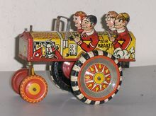 Marx College Boys Crazy Car 1940's US Made Tin Wind Up Toy