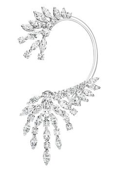 Piaget Extremely Piaget earrings in white gold set with marquise-cut diamonds and brilliant-cut diamonds