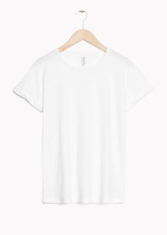 Other Stories image 1 of Crew-Neck T-Shirt in White