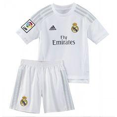 Günstige Real Madrid 2015-16 Kinder Fußball Trikotsatz Heimtrikot