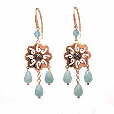 $54.90 Silver gilt earrings and stones