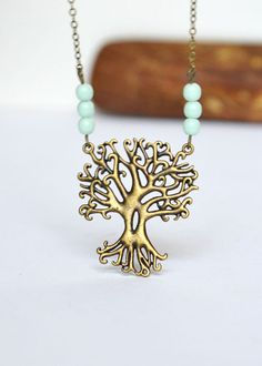 Forest Tree Necklace, Tree Necklace, Tree Pendant, Folk Necklace, Silvan, Tree with Roots, Mystic Tree, Forest Jewelry, Canadian Shop
