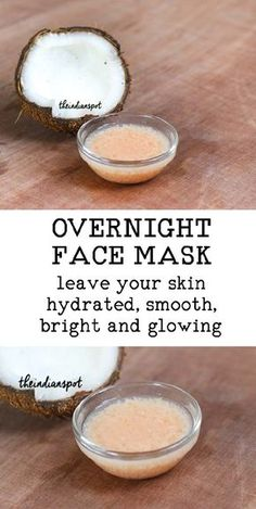2 Ingredient overnight face mask for bright and glowing skin | THEINDIANSPOT