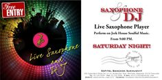 FREE Entry on Saturday (every) from 9:00 pm onwards - come to join us with the live Saxophone and DJ at rooftop L'Appart lounge