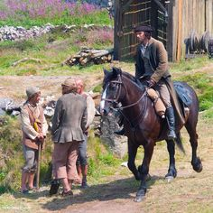 Ross #Poldark arriving at Wheal Leisure | Tim Martindale Photography