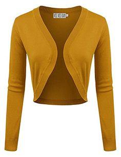 ViiViiKay Women Solid Basic Essential Comfy Versatile Bolero Shrug Knit Cardigan