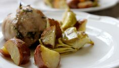 Yum alert: Get the recipe for this delicious one-dish lemony chicken, artichoke and potato bake. #Nom.   Be Well Philly