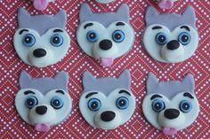 12 Fondant cupcake toppershuskies sled dogs by PastelFiesta