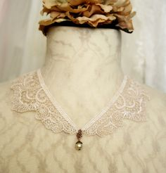 lace collar necklace Whisper My Love vintage ivory by tinaevarenee on etsy Lace Necklace, Collar Necklace, Lace Collar, Whisper, Jewelry Ideas, Collars, Ivory, My Love, Diy