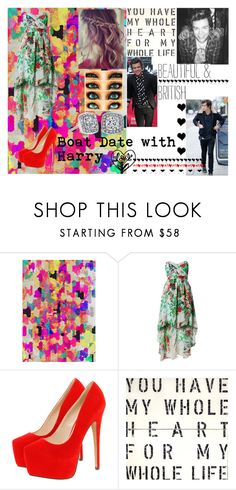 """Boat Date With Harry"" by kennedey-lynn-freeman ❤ liked on Polyvore featuring AX Paris, Boohoo, Burberry and Sugarboo Designs"
