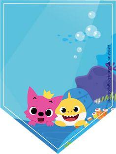 Diy Birthday Banner, Boy Birthday Parties, 3rd Birthday, Feliz Cumpleaños Baby, Kit Bebe, Shark Party, Baby Kit, Printable Banner, Baby Shark