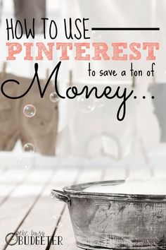 How to use pinterest to save a ton of money. If you use it right, Pinterest is HUGE for saving money!  **This is so smart! Why didn't I think of that! They have the top 25 frugal living or money saving pinners listed here to follow. My feed has a ton of really smart money saving tips in it now.