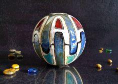 bol de boîte Raku céramique bijoux entièrement fait main.  Taille de carton : 14 cm de diamètre maximum : 14 cm une belle création que raku