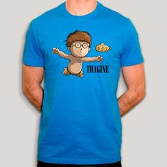 John Lennon, T Shirt, Tees, Mens Tops, Character, Fashion, Cotton, Accessories, Moda