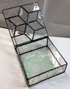 Contemporary Stained Glass Jewelry Box  Bevel by PeaceLuvGlass, $42.00