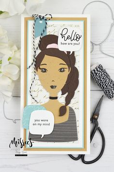 Paper Dolls, Art Dolls, Hello You, Die Cut Cards, Studio Lighting, Cards For Friends, Masculine Cards, Little Miss, Card Making