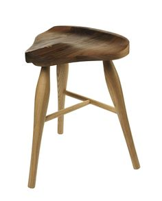 Walnut Saddle Stool via AYLA. Click on the image to see more!