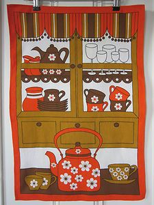 Original Vintage  Cotton Tea Towel