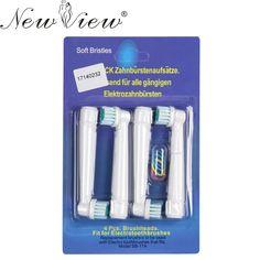 4 Unids/lote Reemplazo cepillo de Dientes Eléctrico Oral B Cuidado de la Higiene Limpio EB 17 SB-17A Cepillo de Dientes Eléctrico