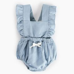 More Info, Visit Official Website Cotton Sleeveless Infant Romper Jumpsuit Outfit Newborn Baby Romper Summer Lace Baby Girl Sunsuit B. Denim Romper, Ruffle Romper, Baby Girl Romper, Baby Girl Newborn, Baby Girls, H&m Baby, Knitted Romper, Denim Jumpsuit, Sweet Girls